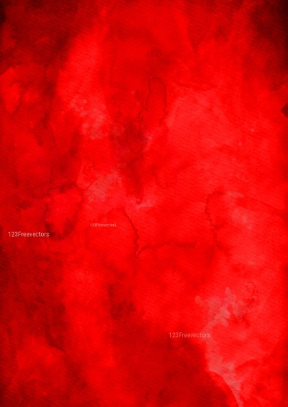 Bright Red Grunge Watercolor Texture Background