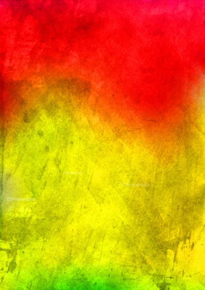 Red and Yellow Water Color Background Image