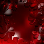 Free Red And Black Flowers Background Graphic