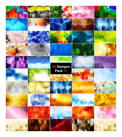 50 Abstract Low Poly Background Vector Pack 11