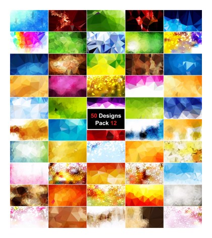 50 Abstract Polygonal Background Vector Pack 12