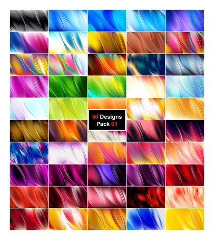 50 Abstract Curve Designs Background Vector Pack 01