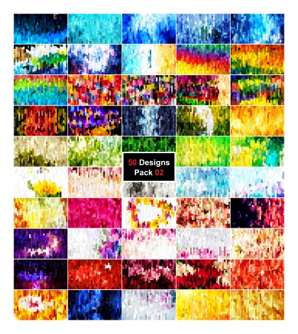 50 Abstract Stripes Background Vector Pack 02