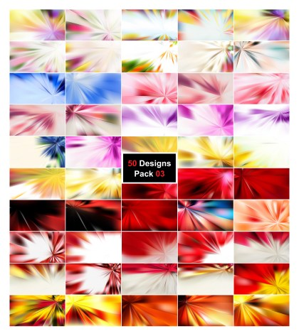 50 Abstract Rays Background Designs Vector Pack 03