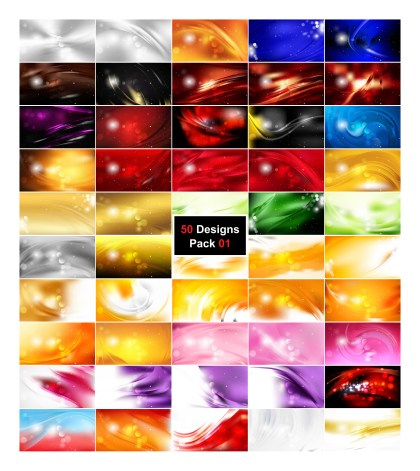 50 Abstract Background Designs Illustrator Pack 01