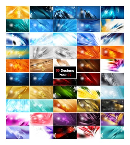 50 Abstract Background Designs Vector Illustrator Pack 02