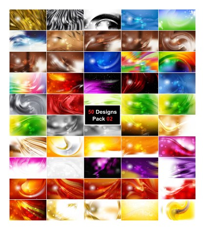 50 Abstract Background Designs Illustrator Pack 02