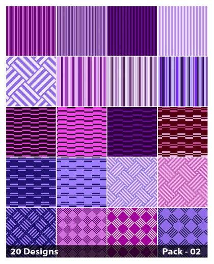 20 Purple Stripes Pattern Vector Pack 02