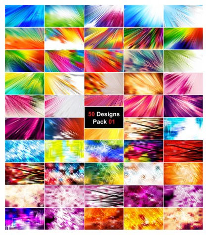 50 Abstract Lines Background Vector Pack 01