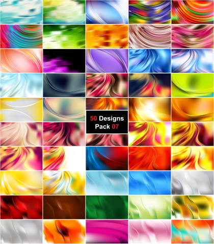 50 Wave Background Vector Pack 07
