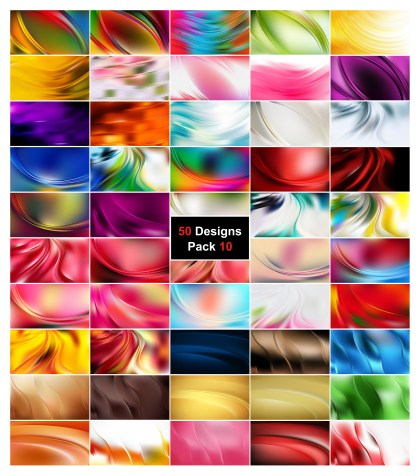 50 Abstract Wave Background Vector Pack 10