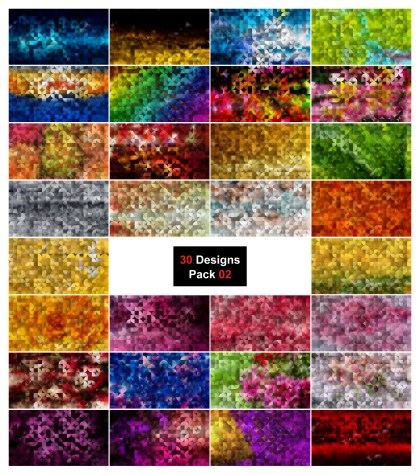 30 Abstract Quarter Circles Background Vector Pack 02