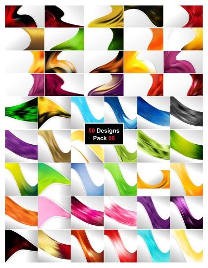 50 Wave Business Background Illustrator Vector Pack 08
