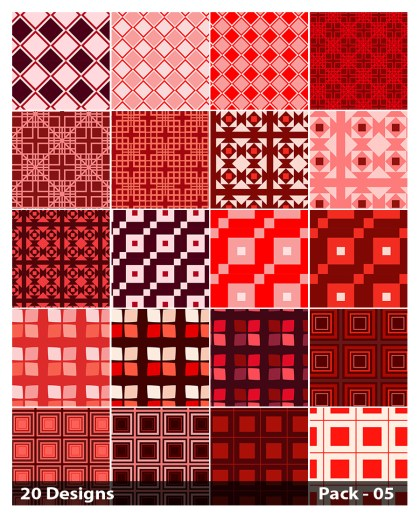 20 Red Square Background Pattern Vector Pack 05