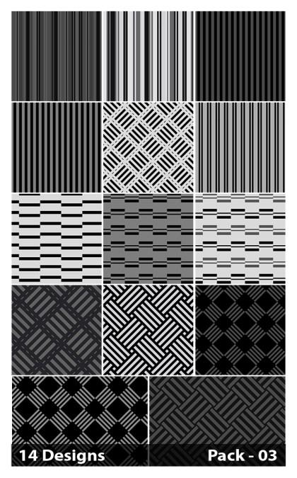 14 Black Stripes Pattern Background Vector Pack 03