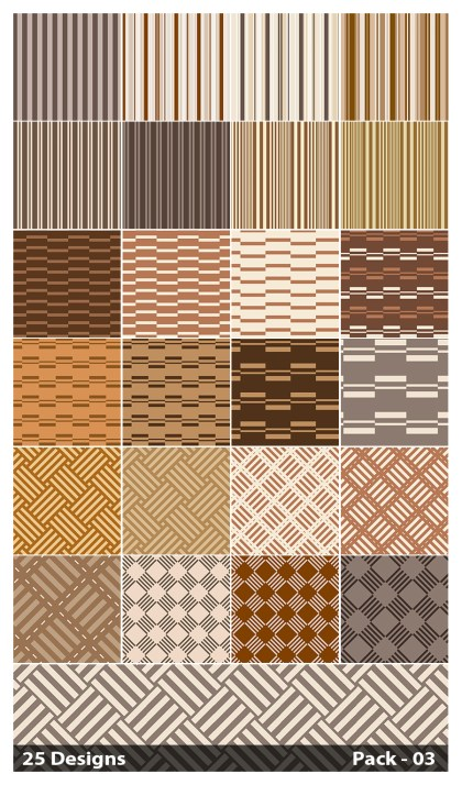 25 Brown Stripes Pattern Background Vector Pack 03
