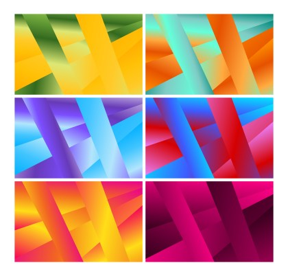 6 Abstract Liquid Color Geometric Background Vector Pack