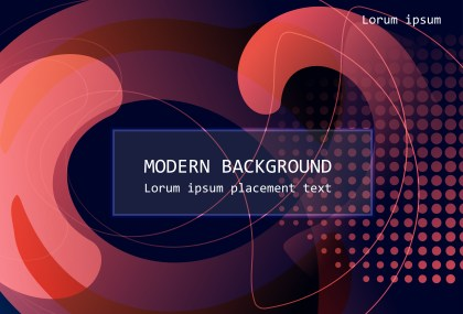 Creative Black Red and Blue Fluid Liquid Gradient Poster Background