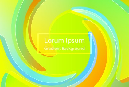 Abstract Liquid Blue Green and Yellow Gradient Background