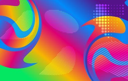 Abstract Colorful Gradient Fluid Shapes Futuristic Geometric Background