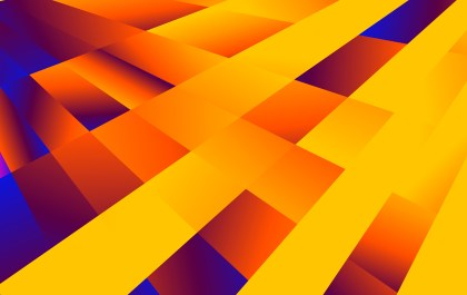 Abstract Blue and Orange Fluid Color Geometric Background