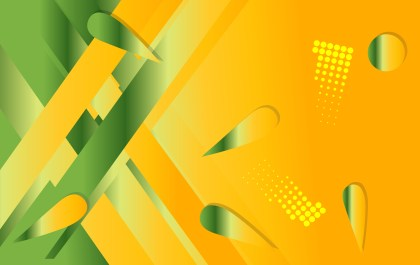 Orange and Green Fluid Color Abstract Geometric Background Image