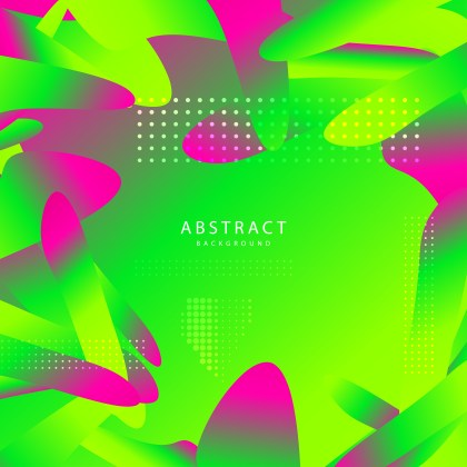 Abstract Pink and Green Fluid Gradient Geometric Background