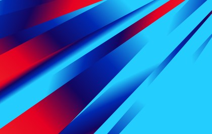 Abstract Red and Blue Fluid Gradient Shapes Composition Futuristic Design Background