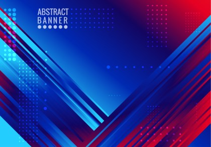 Red and Blue Fluid Liquid Color Abstract Geometric Background Design Template