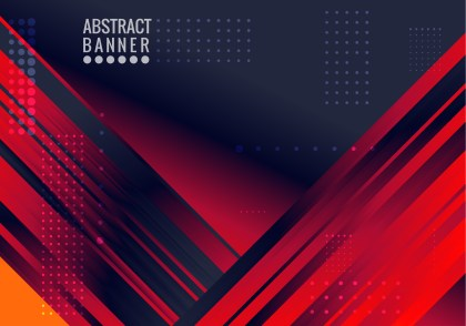 Abstract Black Red and Blue Fluid Gradient Geometric Background Vector Art