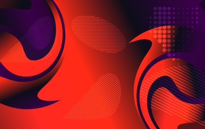 Abstract Red Purple and Black Fluid Gradient Shapes Futuristic Design Background Vector