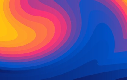 Abstract Pink Blue and Orange Liquid Color Geometric Background