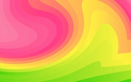 Abstract Pink Green and Yellow Liquid Geometric Poster Background Design