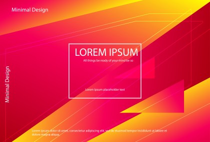 Pink Red and Yellow Fluid Gradient Geometric Abstract Background Vector Illustration