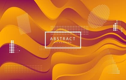 Abstract Fluid Orange Gradient Wavy Background
