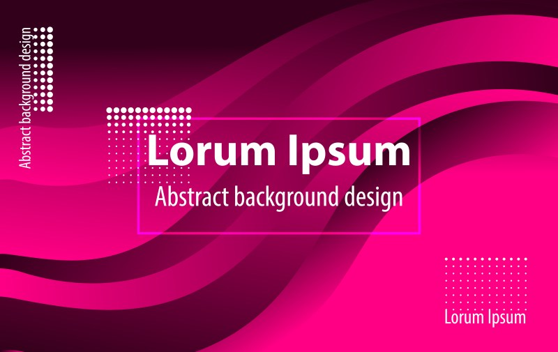 Abstract Pink and Black Liquid Wavy Geometric Background Vector Image