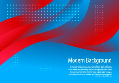 Abstract Fluid Red and Blue Gradient Wavy Background Template