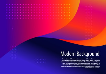 Abstract Red Orange and Blue Liquid Wavy Shapes Composition Background Vector Art