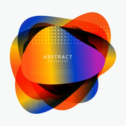 Abstract Colorful Fluid Gradient Geometric Shape