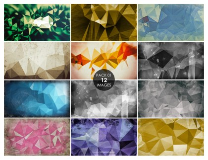 12 Grunge Polygonal Background Pack 01