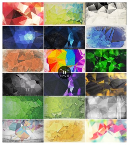 18 Grunge Polygon Background Pack 02