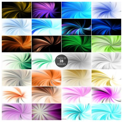 28 Spiral Rays Background Pack 02