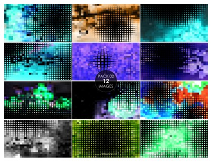 12 Square Mosaic Background Pack 02