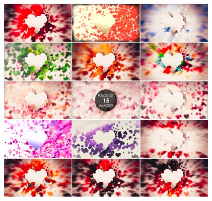 15 Blurred Heart Background Pack 01