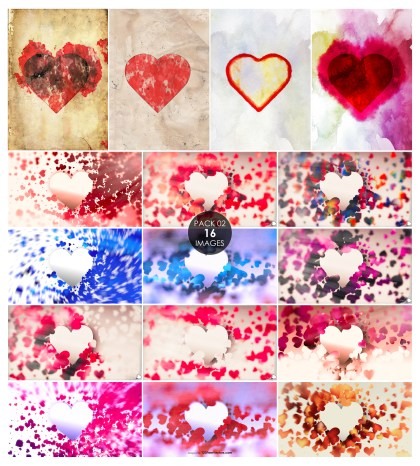 16 Heart Background Pack 02