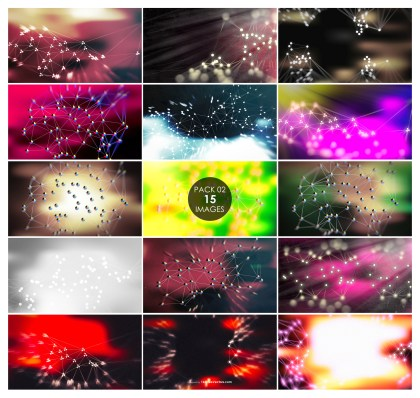 15 Connected Dots and Lines Background Pack 02