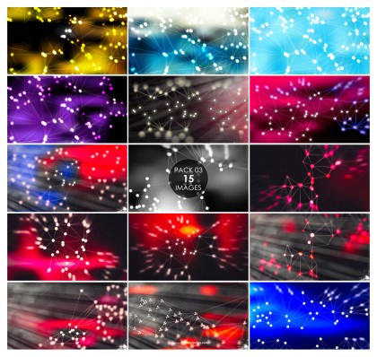 15 Connected Lines and Dots Background Pack 03