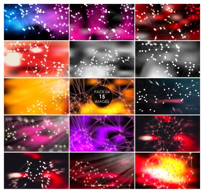 15 Connected Dots and Lines Background Pack 04