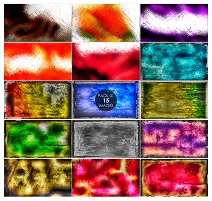 15 Glass Effect Paint Background Pack 01