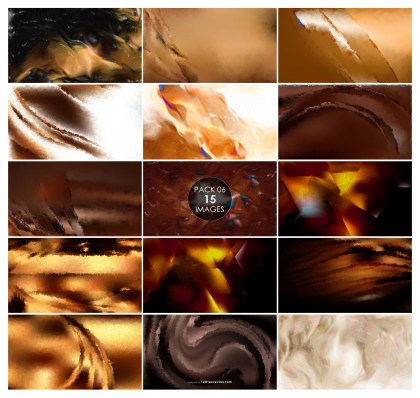 15 Brown Watercolor Background Pack 06